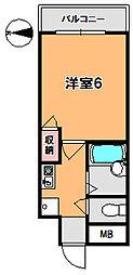 ライズマンション[4階]の間取り