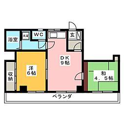 ライフコア 18[2階]の間取り