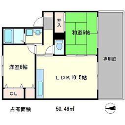 コンフォレスト[2階]の間取り