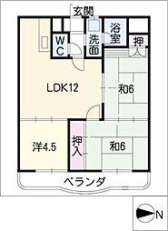 コンフォトゥール[5階]の間取り