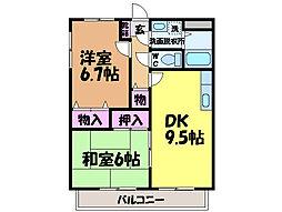 愛媛県松山市南梅本町の賃貸マンションの間取り