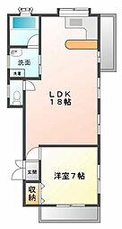 メロディ甲子園[2階]の間取り