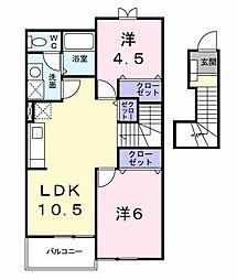 ドゥ−アヴニ−ルA[203号室]の間取り