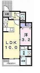 東京都町田市東玉川学園4丁目の賃貸アパートの間取り