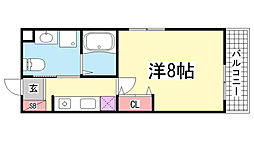 ベルエアー塚本通[303号室]の間取り