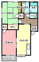 静岡県浜松市中区曳馬4の賃貸アパートの間取り
