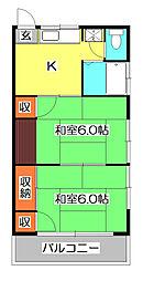 第一ヴィラ坂井[2階]の間取り