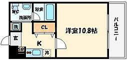 アーデン江戸堀[2階]の間取り