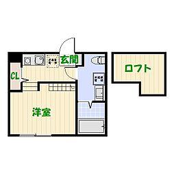 仮)柴又2丁目Bコーポ[203号室]の間取り