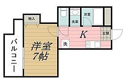 千葉県千葉市中央区弁天2丁目の賃貸マンションの間取り