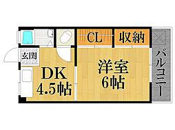 第一西宮マンション[2階]の間取り