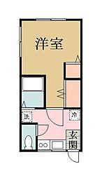 ガーデンハイム谷塚[201号室]の間取り