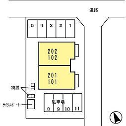 Comfort・N(コンフォート・エヌ)[202号室]の外観