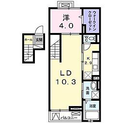 クレメントハウス[0406号室]の間取り