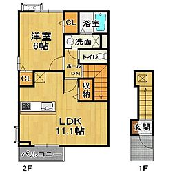 メゾンドエスポワール1[2階]の間取り