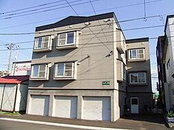 北海道札幌市豊平区月寒東二条7丁目の賃貸アパートの外観