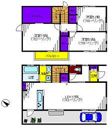 [一戸建] 東京都立川市砂川町2丁目 の賃貸【/】の間取り