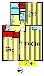 グリーンウェーブI・II・III・IV[2-202号室]の間取り