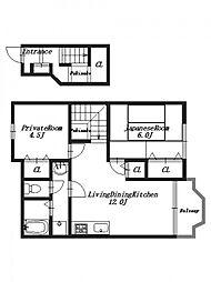 ウッディタウンC[2階]の間取り