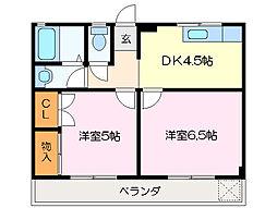 テナント山本[2階]の間取り
