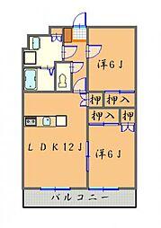 Bello Palazzo (ベロパラ3)[401号号室]の間取り