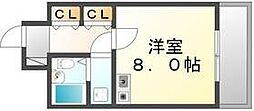 香川県高松市観光通1丁目の賃貸マンションの間取り
