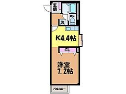 愛媛県松山市泉町の賃貸アパートの間取り