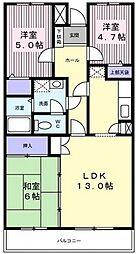 ルミナス藤[1階]の間取り