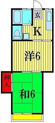 アシュレ松戸栄町[2階]の間取り