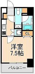東京都台東区松が谷4丁目の賃貸マンションの間取り