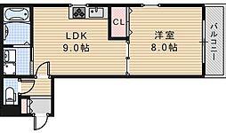 サンライトあべの5[3階]の間取り