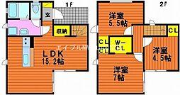 [一戸建] 岡山県岡山市東区浅越 の賃貸【/】の間取り