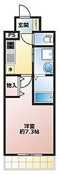 エヴァステージ神戸六甲[3階]の間取り