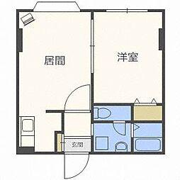 ヴァンヴェール札幌[2階]の間取り