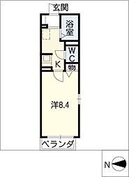 シャトレ三条[2階]の間取り