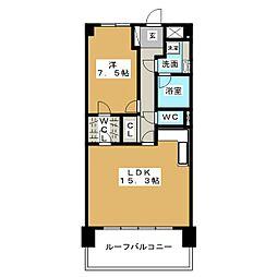 みそのマンション天塚[5階]の間取り