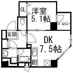イデアル五反田[201号室]の間取り