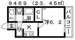 ARATA松原天美東(アラタ松原天美東)[104号室号室]の間取り