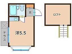 ガーデンパレス東中野[1階]の間取り