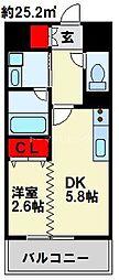 デザイナーズ ザ・レトロ 9階1DKの間取り
