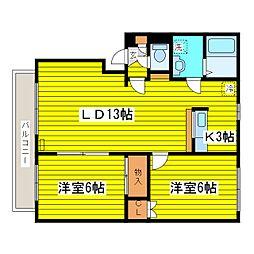 北海道札幌市東区北十七条東4丁目の賃貸マンションの間取り