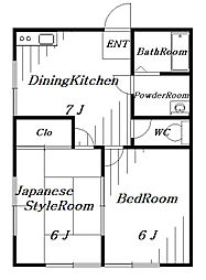 FG CHIBA[3階]の間取り