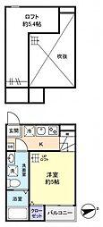 KAHALE八千代A[1階]の間取り