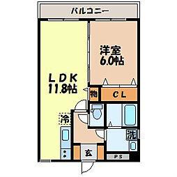 ステーションビュー美坂[302号室]の間取り