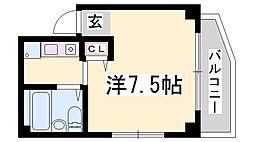 エイエムハイツ[4階]の間取り