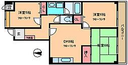 シャトレーホソノ[4階]の間取り