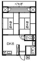 横山アパートI[201号室]の間取り