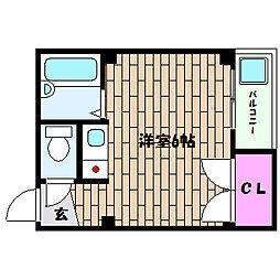 兵庫県神戸市灘区琵琶町1丁目の賃貸マンションの間取り