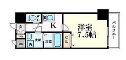 WOB梅田 3階1Kの間取り