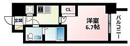 JR東海道・山陽本線 新大阪駅 徒歩9分の賃貸マンション 6階1Kの間取り